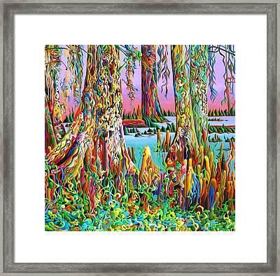 Cypress Spirit Rising Framed Print