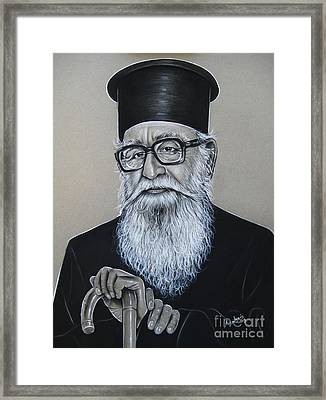 Cypriot Priest Framed Print by Anastasis  Anastasi