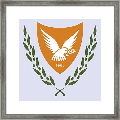 Framed Print featuring the drawing Cyprus Coat Of Arms by Movie Poster Prints