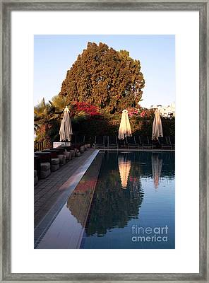 Cyprus Pool Reflection Framed Print