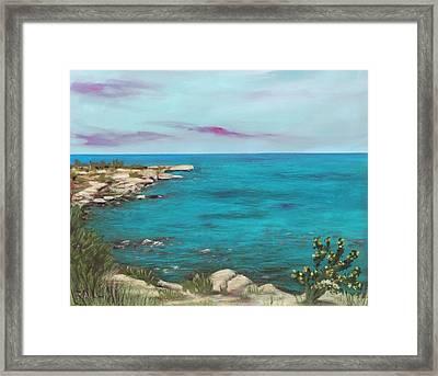 Framed Print featuring the painting Cyprus - Protaras by Anastasiya Malakhova