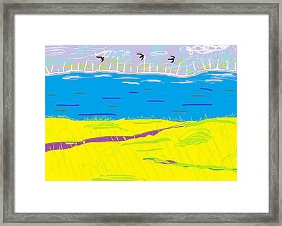 Cyprus Seascape At Morning Framed Print