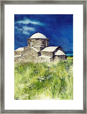 Cyprus The Old Church Framed Print