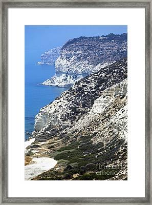 Cyprus View Framed Print by John Rizzuto