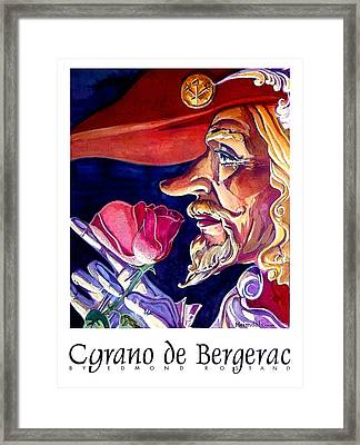 Framed Print featuring the painting Cyrano by Tim  Heimdal