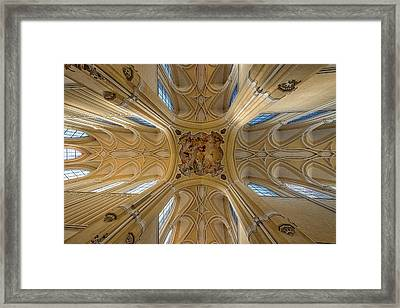 Framed Print featuring the photograph Czech Church Ceiling Mural by Stuart Litoff