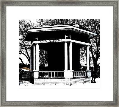 Czech Village Bandstand Framed Print by Marsha Heiken