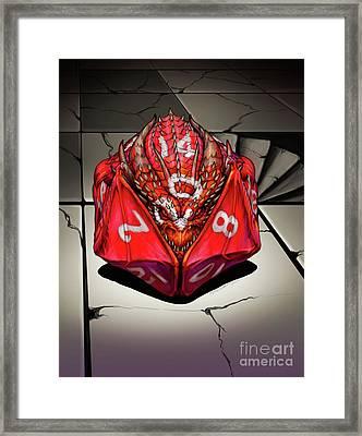 D 20 Dragon Framed Print by Stanley Morrison