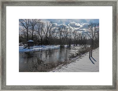 D And R Canal At Lawrenceville 2 Framed Print by Steven Richman