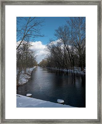 D And R Canal At Lawrenceville Framed Print by Steven Richman