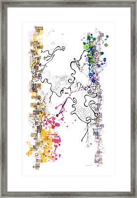 D Branes Framed Print by Regina Valluzzi