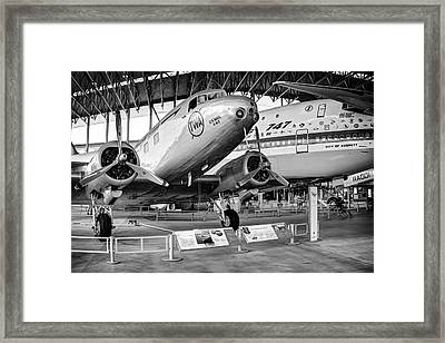 D C - 2  And First 747 Framed Print by Daniel Hagerman