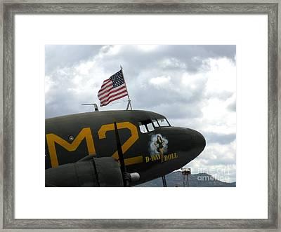 Douglas C-53d - D Day Doll Framed Print by Marta Robin Gaughen