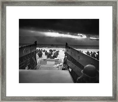D-day June 6, 1944 Omaha Beach Framed Print by Daniel Hagerman