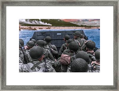 D-day Landing Framed Print by Brent Shavnore