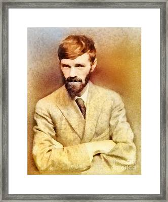 D. H. Lawrence, Literary Legend Framed Print by Frank Falcon