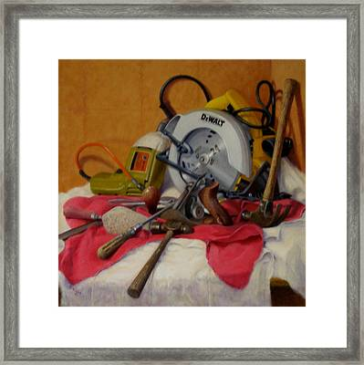 Framed Print featuring the painting D. I. Y.  1 by Donelli  DiMaria