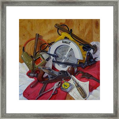 Framed Print featuring the painting D. I. Y. 2   by Donelli  DiMaria