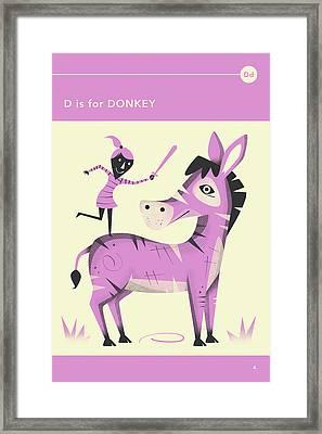 D Is For Donkey Framed Print