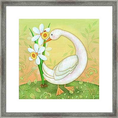D Is For Duck And Daffodils Framed Print
