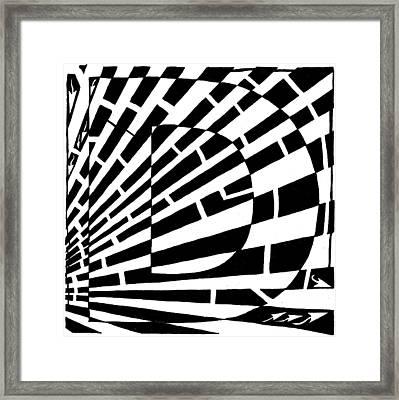 D Maze Framed Print by Yonatan Frimer Maze Artist