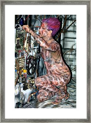 D Robot Working Framed Print by Leigh Odom