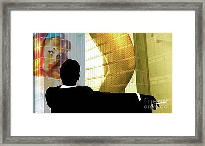 Don Draper, Mad Men, Includes Gil Elvgren Image ,sterling Cooper Pryce, Minimalist Graphic Design. Framed Print by Thomas Pollart