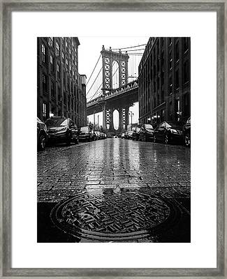 D U M B O  In The Rain Framed Print