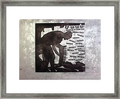D U Rounds Project, Print 36 Framed Print