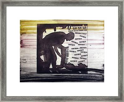D U Rounds Project, Print 45 Framed Print