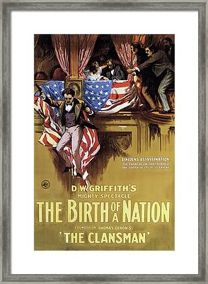 D W Griffith's Birth Of A Nation 1915 Framed Print by Mountain Dreams