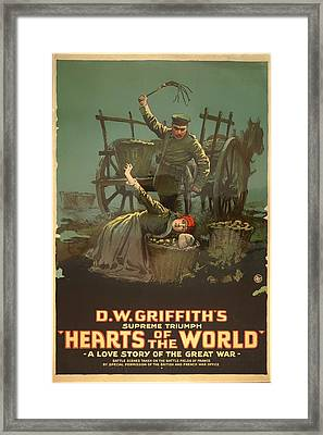 D W Griffith's Hearts Of The World 1918 Framed Print by Mountain Dreams
