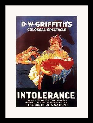 Intolerance Mixed Media Framed Prints