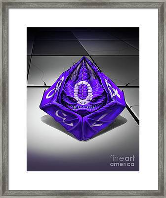 D10 Dragon Framed Print
