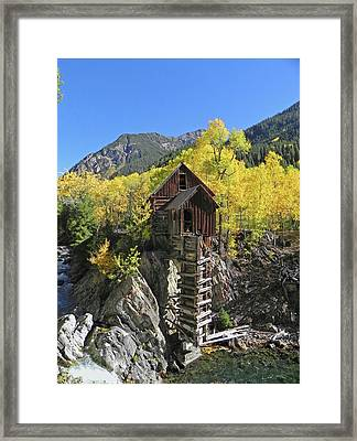 D10426 Crystal Mill At The Crystal River Framed Print