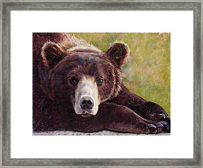 Da Bear Framed Print by Billie Colson