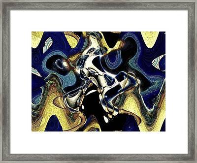 Da Blues Framed Print by LeeAnn Alexander