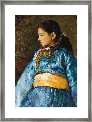 Da Guo La Framed Print by Ji-qun Chen
