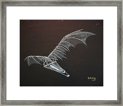 Da Vinci Flying Machine Framed Print