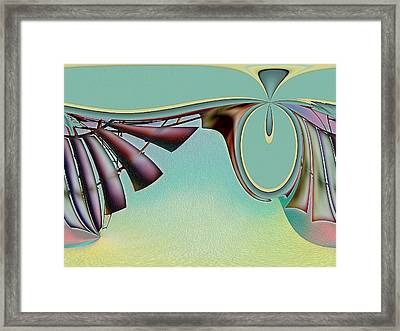 Da Vinci's Nudge Framed Print by Wendy J St Christopher