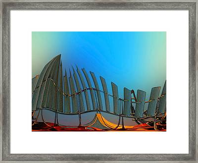 Da Vinci's Outpost Framed Print by Wendy J St Christopher