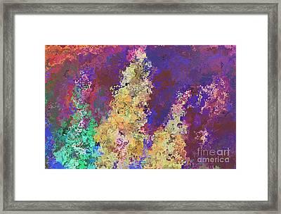 Dabble Flowers Framed Print