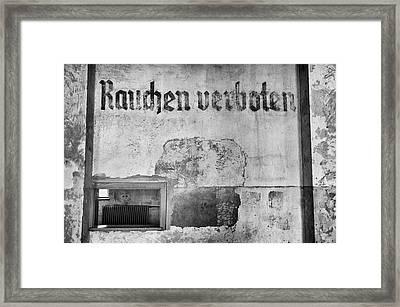 Dachau Concentration Camp. Framed Print by Pablo Lopez