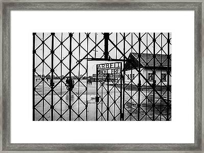 Dachau Nazi Concenrearion Camp  Framed Print by Bob Lynn