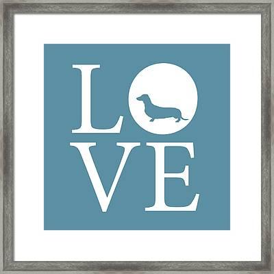 Dachshund Love Framed Print by Nancy Ingersoll