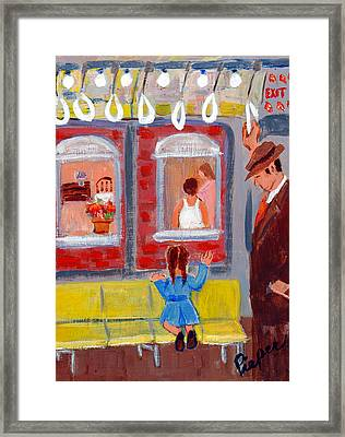 Dad And Me On The El Framed Print
