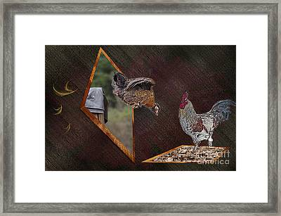 Dad Look I Am Jumping Framed Print by Donna Brown