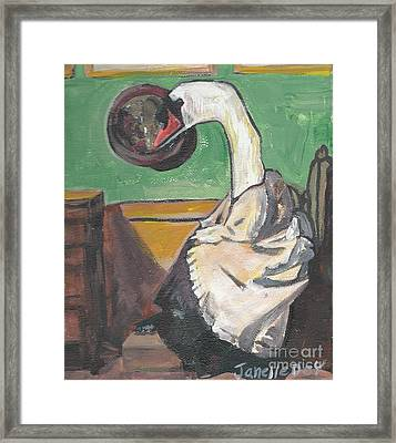Framed Print featuring the painting Dada by Janelle Dey