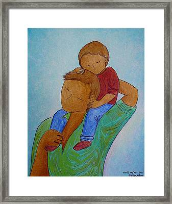 Daddy And Me Framed Print