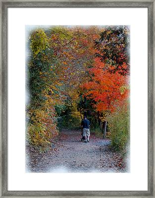 Daddy-daughter Time Framed Print